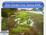 rain garden one spring 2006