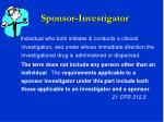 sponsor investigator