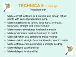technica 8 orange the player can