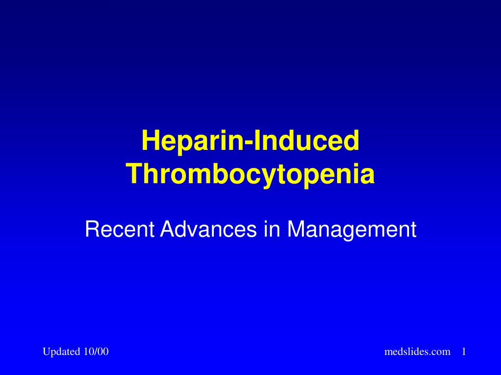 heparin induced thrombocytopenia l.