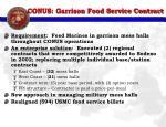 conus garrison food service contract