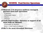 oconus food service operations