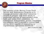 program mission