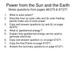 power from the sun and the earth notes questions from pages 66 270 67 271