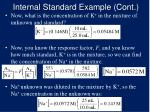 internal standard example cont