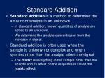 standard addition