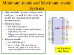 minimum mode and maximum mode systems