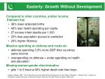 easterly growth without development
