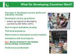 what do developing countries want