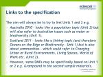 links to the specification