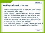 marking and mark schemes
