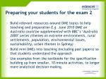 preparing your students for the exam 2