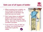 safe use of all types of ladder29