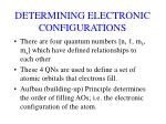 determining electronic configurations