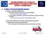 establishment of a quality management system in the cern safety commission14