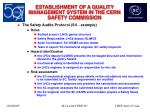 establishment of a quality management system in the cern safety commission20