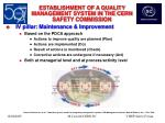 establishment of a quality management system in the cern safety commission22