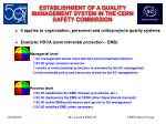 establishment of a quality management system in the cern safety commission23