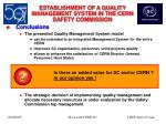 establishment of a quality management system in the cern safety commission24