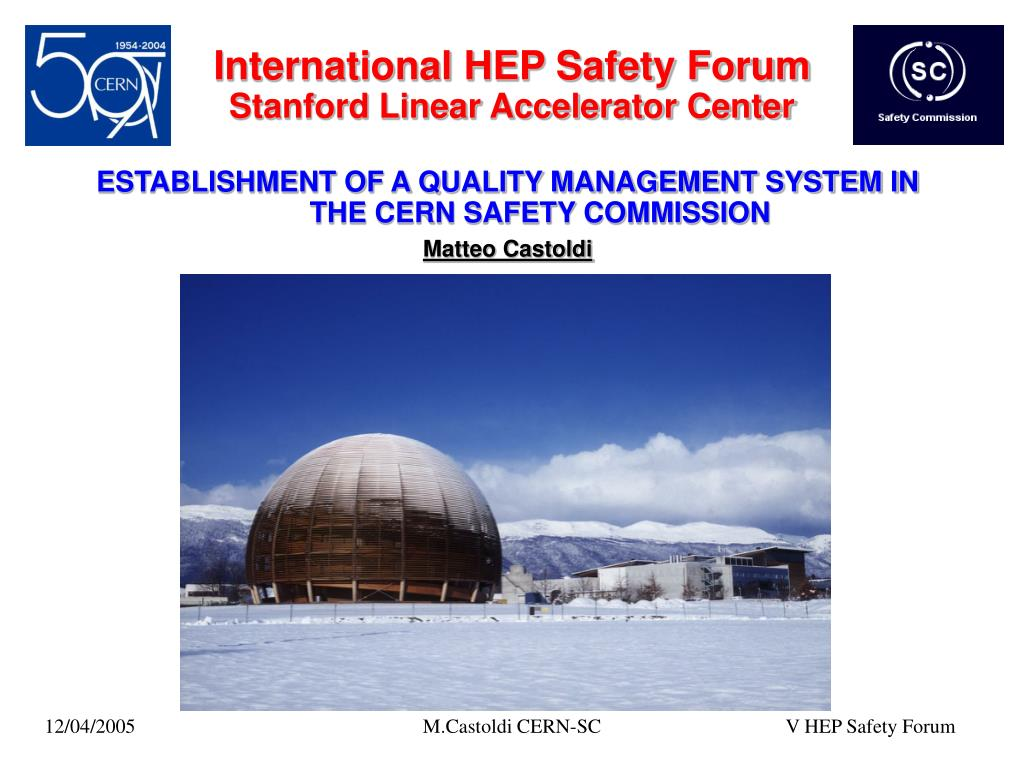 international hep safety forum stanford linear accelerator center l.