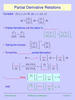 partial derivative relations