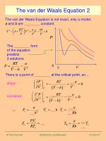 the van der waals equation 2