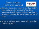 ceteris paribus factors for demand