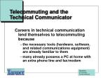 telecommuting and the technical communicator