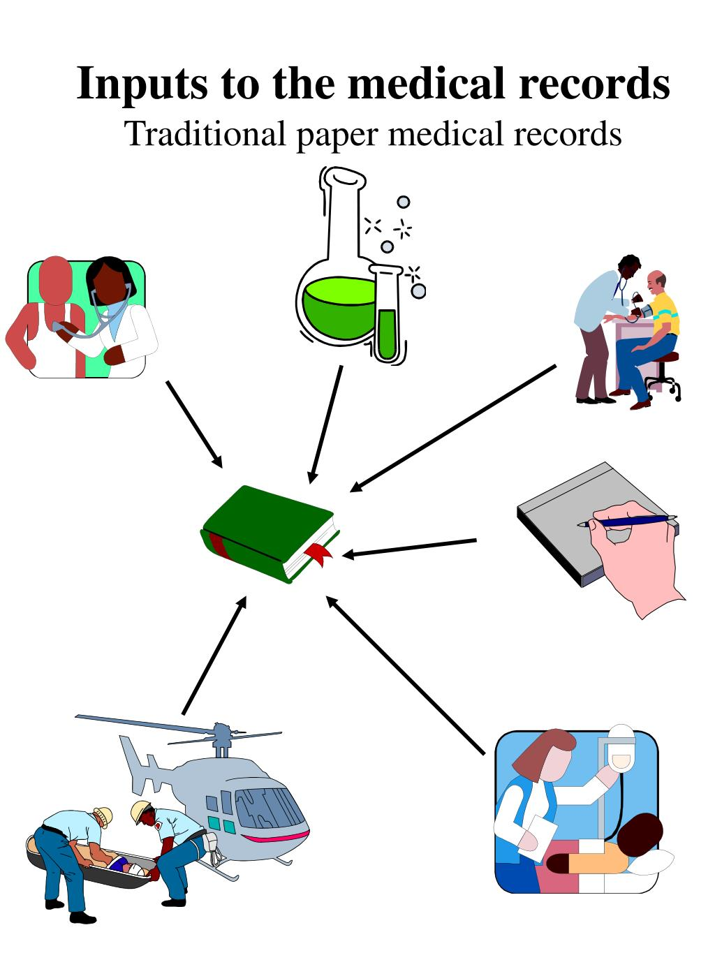 Inputs to the medical records