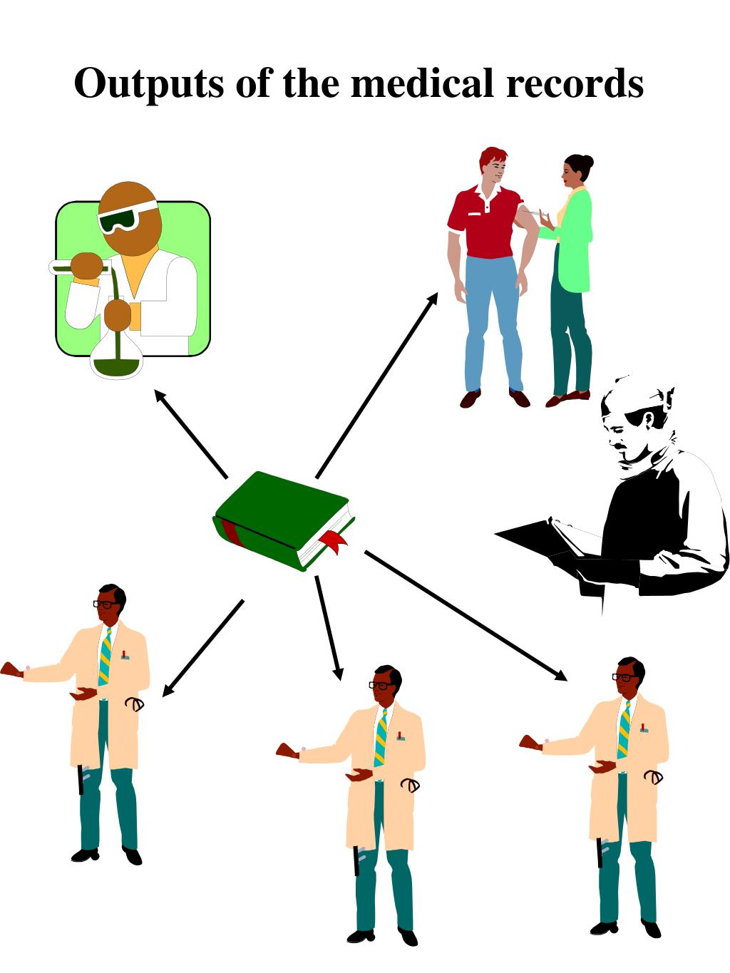 Outputs of the medical records