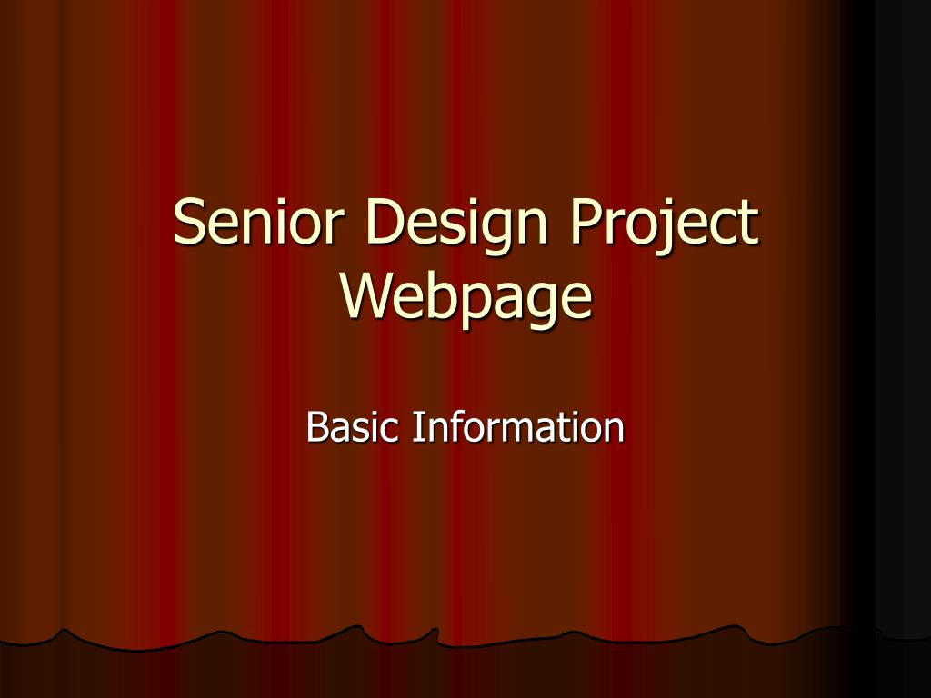 senior design project webpage l.