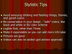 stylistic tips