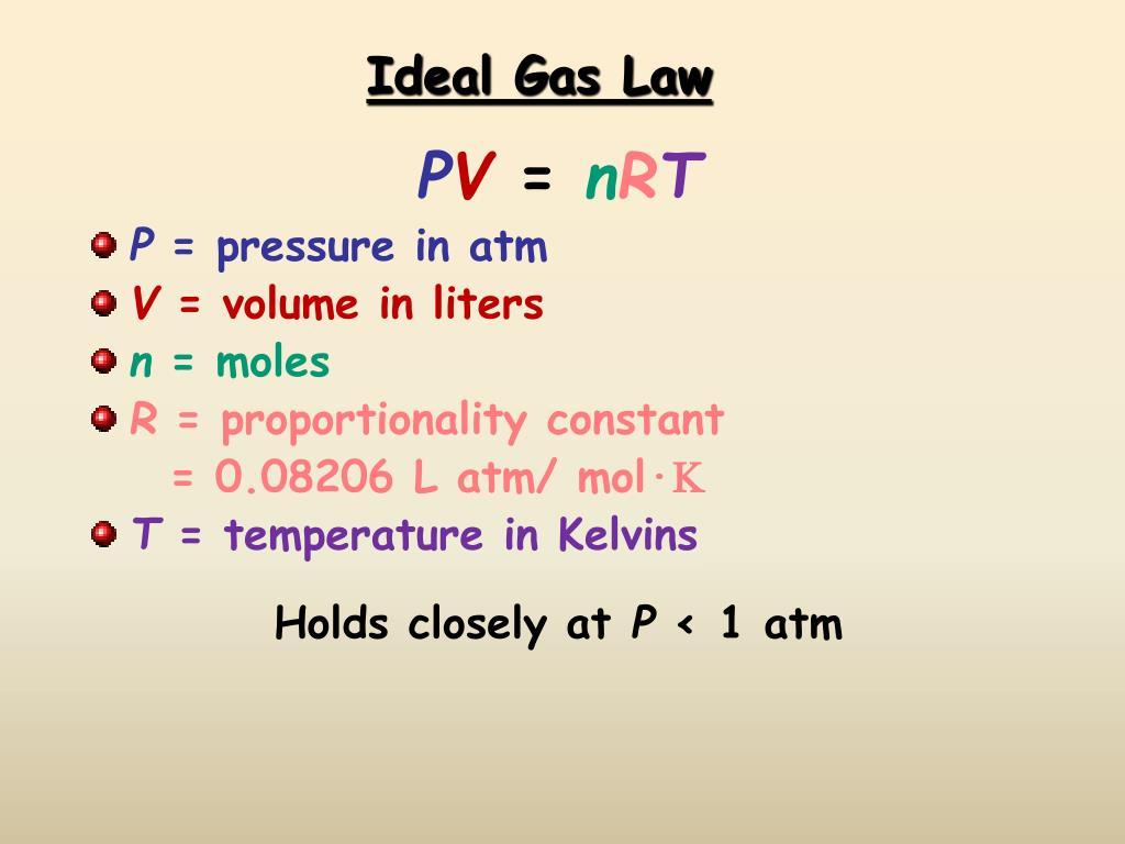 ideal gas law l.
