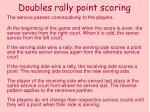 doubles rally point scoring