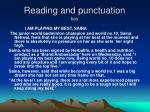 reading and punctuation key
