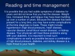reading and time management30