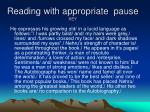 reading with appropriate pause key37