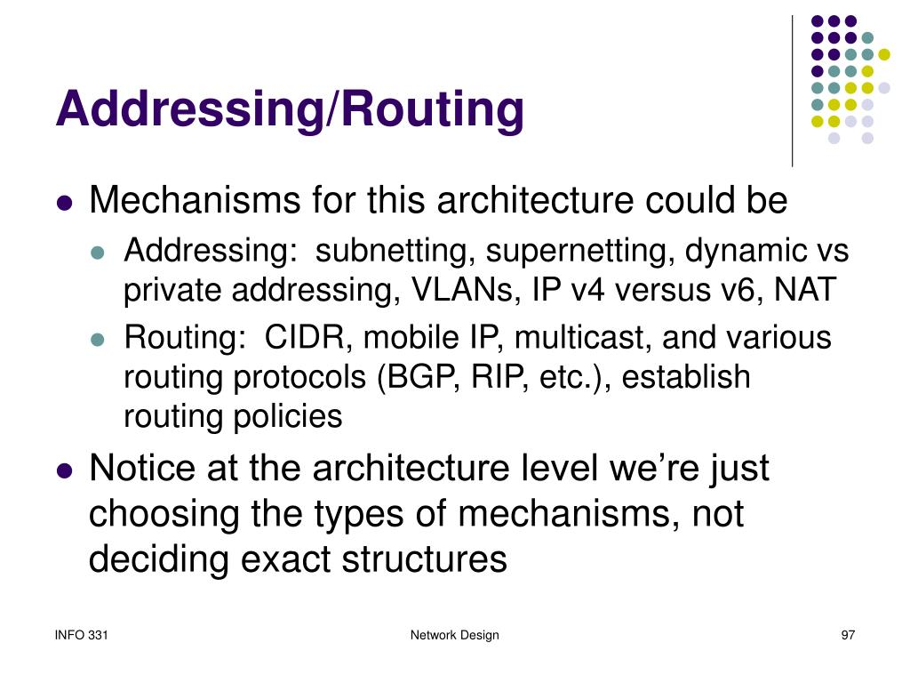 Addressing/Routing