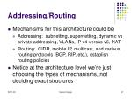 addressing routing97
