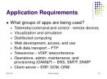 application requirements23