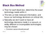 black box method131