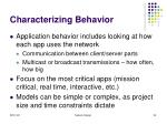 characterizing behavior54