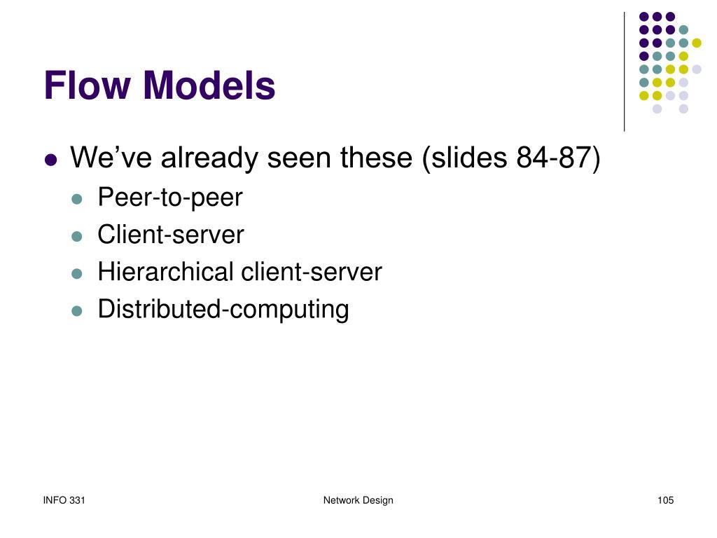 Flow Models