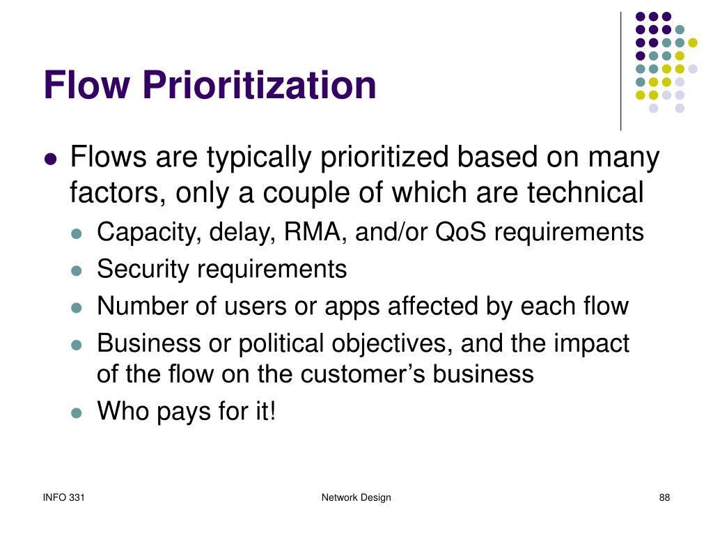 Flow Prioritization