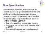flow specification