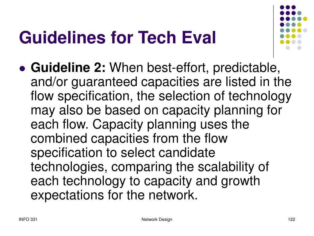 Guidelines for Tech Eval