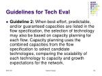guidelines for tech eval122