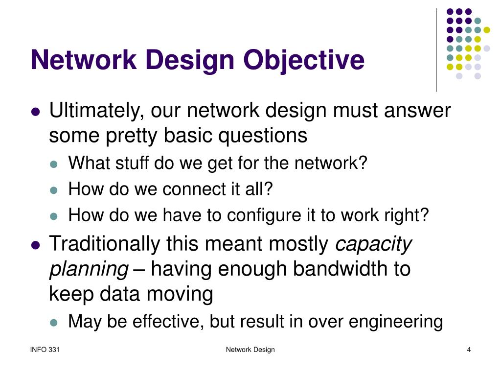 Network Design Objective