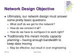 network design objective