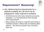 requirements booooring